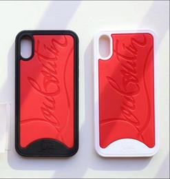 Coque anti-choc pour IPhoneX 7 7P 8 Plus Vogue noir rouge / blanc rouge pour téléphone portable IPhone X XS MAX ? partir de fabricateur