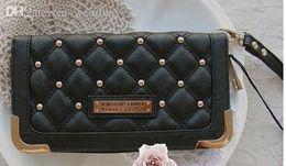 carteras kardashian Rebajas Al por mayor-Nuevo Kim Kardashian Kollection larga cartera de diseño kk carteras de mujer moda monedero carteira feminina