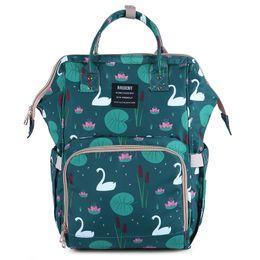 2020 mochilas de panda Mamá de múltiples funciones Mochilas 20 Diseño Piña Cisne Floral Ovejas Flamenco Unicornio Fox Panda Oso Clave Impermeable Pañuelo de maternidad bolso de mano mochilas de panda baratos