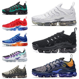 save off 76e81 3f020 2018 new Nike Air Vapormax Plus TN Zapatillas de running Creamsicle Light  Menta USA Grape BETRUE Sunset Triple Black Blanco Hombre Mujeres Sports  Sneakers ...