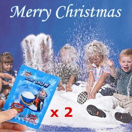 christmas tree snows Promo Codes - 2Packs Instant Snow Magic Artificial Fake Snowflakes,Festival Party Christmas Decorations,Artificial Snow For Child playing toys