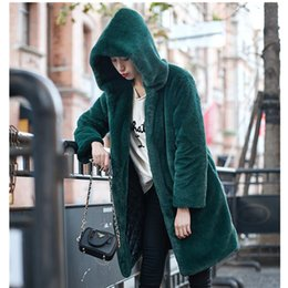 3d6f8046d1c Fall winter faux fur hooded burning coat jacket for women warm fashion  ladies outerwear jackets coats hoodies green grey black