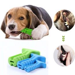 2019 giocattoli spazzolino da denti Spazzolino da denti giocattolo Spazzolino da denti bastone Pet spazzolino molare per cane Dente cucciolo Sanità Denti Pulizia Spazzola giocattolo da masticare sconti giocattoli spazzolino da denti