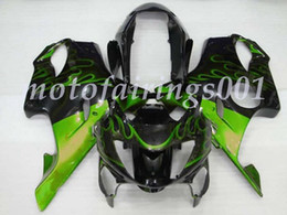 F4 plastica online-Nuovo ABS plastica carenature Fit Kit Per la Honda CBR600 F4 1999 2000 Injection Mold Fiamma Verde
