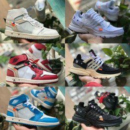 Zapatillas de tenis blancas baratas para mujeres online-2019 New Nike Air Jordan 1 white Shoes 1 High OG Basketball Shoes Cheap off Royal Banned Bred Black Blanco Retro Toe Hombres Mujeres Entrenador 1s No para revender presto V2 Diseñador Zapatillas