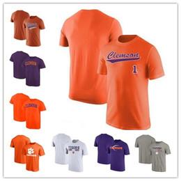 baseball roxo Desconto 2019 NOVO Clemson Tigres T-Shirt Verdadeiro Esporte baseball T-Shirt 2018 Fanatics Roxo cinza preto branco frete grátis tamanho S-3XL