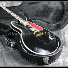 guitarra de corpo semi-oco vermelha Desconto 2019 Neew Semi Hollow Corpo Guitarra Elétrica 22 Trastes BB-Rei 6 Posições Swtich VERMELHO Pickguard Grover
