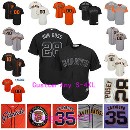 2019 imbecil posey jersey 2019 Giants Players Weekend Buster Posey Evan Longoria Madison Bumgarner Brandon Belt Crawford Cueto Joe Panik Mens Jovens Crianças Crianças imbecil posey jersey barato