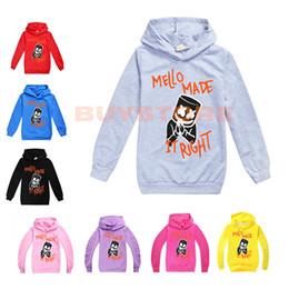 2019 одежда для мальчиков 12 месяцев Marshmello DJ Mask Clothing Дети Толстовки с длинным рукавом Детские топы Teen Kids Толстовка Куртка с капюшоном Пальто Мультфильм Хлопок бленды одежда