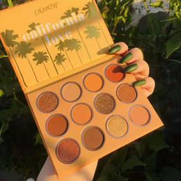 maquillaje naranja Rebajas 2019 El más nuevo Colourpop California Love Palette 12 colores Set de maquillaje Orange Pumpkin color Eyeshadow Palette Envío gratis