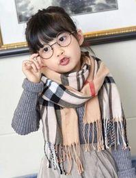 Canada nouvelle mode 2020 moufles Automne Hiver Châle Enfants enfants Plaid Foulard carré Marque Garçons Filles Foulard enfants Châles Wrap Offre