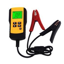 Аккумуляторные батареи volvo онлайн-12V ЖК-цифровой автомобильный аккумуляторный анализатор AE300 автомобильный аккумулятор напряжения ом тестер