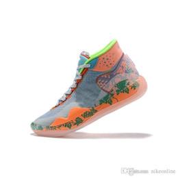 Easter kd sapatos on-line-Mens O que o kd 12 tênis de basquete Floral MVP Easters Natal recém-chegados lebron 16 kevin durant tênis top de alta botas com tamanho de caixa