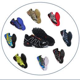 Zapatillas para correr Solomon para hombre Speedcross 3 Trail Zapatillas de deporte al aire libre Mnes blanco negro rojo amarillo con cordones zapatillas de deporte respirables desde fabricantes