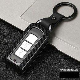 carcasa del mando a distancia de mitsubishi Rebajas Aleación de fibra de carbono Car Key Case Smart Remote Car Key Case Protector de la cubierta para Mitsubishi Outlander Lancer EX ASX Pajero
