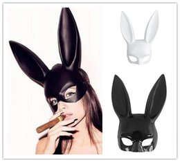 masquerade costumes for women halloween Coupons - Long Ears Rabbit Bunny Mask Party Costume Cosplay Halloween Masquerade