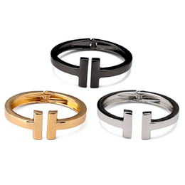coolest mens bracelets Promo Codes - Women Charm Cuff Bracelets Love Bangles 18k Gold Plated Silver Filling Mens Cool Jewelry For Bangles Adapt To 14-19CM Wrist Wearing