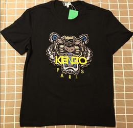 T shirt court justin bieber en Ligne-2019 Hommes T-shirts en coton Justin Bieber Marque T-shirt avec motif tête de tigre T-shirt à manches courtes pour hommes et femmes Chemises
