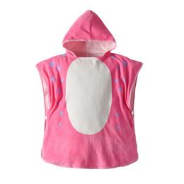 baby rosa badetücher Rabatt 19 Jahre neue Kinder Bademantel Baby rosa Dinosaurier Baumwolle mit Kapuze Kapuzenmantel Mantel Baby Badetuch