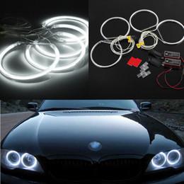 Anneaux ccfl en Ligne-Nouveau 4PCS Voiture Blanc Led CCFL Ange Yeux Halo Anneaux Lumières Lampe Pour BMW E36 E39 E46