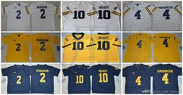 2021 harbaugh trikots Michigan Wolverines 4 Jim Harbaugh 10 Tom Brady 5 jabrill peppers 2 Charles Woodson 21 Desmond Howard Football College-Jerseys genähtes