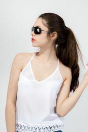 Teufelsgläser online-Little Devil Rechteck Polarisierte Sonnenbrille Mode Stil Sonnenbrille HD Fahren Polaroid Objektiv Eyewear Männlich Weiblich