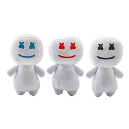 candy toy doll Coupons - 25CM New Cartoon DJ headset electronic syllable cotton candy DJ headset marshmello plush toy doll Halloween gift 3 colors