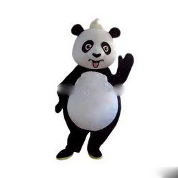 Traje De Personaje De Dibujos Animados Mascota Panda Online Traje