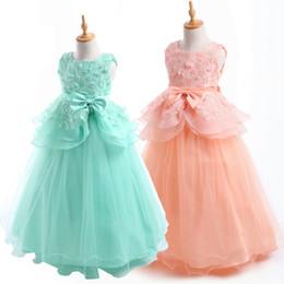 Robe de baptême jolie dentelle petites filles Bubble Jupe Satin baptême baptême Floral robe brodée robe tenue ? partir de fabricateur