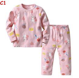 baby warme pyjamas Rabatt Baby 2 Stück Pyjamas Set für Jungen Mädchen Winter Langarm Cartoon Kaktus Warme Baumwolle Weihnachten Pyjamas Kinder Nachtwäsche Kinder Nachtwäsche