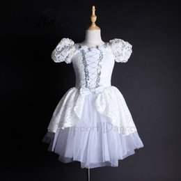 tutu dresses adults Coupons - Puff Sleeve White Lace Professional Ballet Tutu Dress Kids Adult Dance Costume Support Dance C101