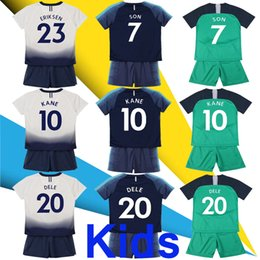 8b1056585 New 18 19 KIDS KIT KANE DELE Jerseys Home away third white green Soccer  Jersey 2017 2018 LAMELA ERIKSEN SON Away blue Football shirt