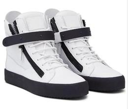 2020 marcas de botas italianas Envío de la gota italiana Primera marca nueva de las mujeres zapatos casuales para hombre de la zapatilla de deporte de cuero genuino con cordones de alta Tops formadores de arranque rebajas marcas de botas italianas