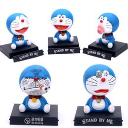 Manos temblando dibujos animados online-Doraemon cartoon shaking head doll decoración del automóvil suministros de interiores accesorios para automóviles modelo de mano X40
