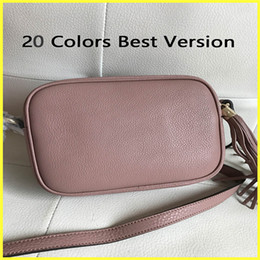 small blue bowl Promo Codes - Disco Crossbody Bag,Ladies' Tassel Bag,20 Colors Top Original Genuine Leather Designer Purse Soho Women's Small Flap 20cm Classic Bags