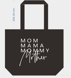 Kundenspezifische baumwolltaschen online-Mutterschaft MAMMA MAMA Einkaufstasche Reißverschluss 100% Baumwolle Canvas Handtasche Tasche innen Buchstaben drucken mit Reißverschluss schließen Maßgeschneiderte neue Ankunft