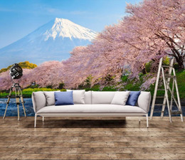 wallpapers cherry blossom Coupons - photo wallpaper for walls Fresh and beautiful cherry blossoms Japanese and Korean TV background wall
