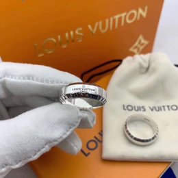2019 anelli in argento sterling Vendita calda Argento sterling Europa americana gioielli vintage designer di marca cinturino argento antico anello Louis per uomo regalo donna l v anelli in argento sterling economici
