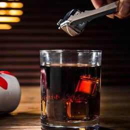Acero inoxidable cubitos de hielo glaciar online-Whisky Piedras de acero inoxidable Bebidas Hielo Refrigerador Cubos Cool Glacier Rock Cerveza Congelador Barware Forma de corazón Cráneo Pétalo Hueso Moneda Diseño