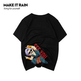 2019 roupas de moda anime T-shirt dos homens da moda 2019 Designer de Anime Dos Desenhos Animados Imprimir Camisas de Manga Curta Tide Marca Casual Camisas Soltas para Homens Roupas S-3XL desconto roupas de moda anime