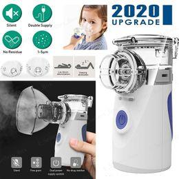 Portable Ultrasonic Mini Nebulizer Inhaler Respirator Machine Children Adult Kids Handheld with Reusable Travel Kit COPD Asthma