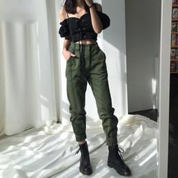 Damen Frauen hohe Taille Camouflage Joggers Hose Damen Casual Camo Cargohose