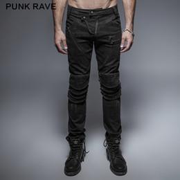 520a5ef28c600b Punk Rock Punk Rock Visual Kei Schwarz Lange Hosen Reißverschluss  Dekoration Hose Mode Lässig Ausgestattet Rüstung Knie Mann Jeans punk rock  hose ...