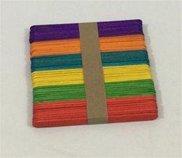 Palos de paleta online-Nueva Cena 50 Unids / set 11 cm Palos de paletas de paletas de paletas de paletas de paletas de paletas de paletas de madera para niños artesanía de bricolaje manualidades de arte de helados Lolly Cake Herramientas