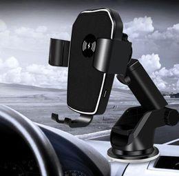 Note carregador de carro sem fio on-line-Para iphone x 8 além de qi carro sem fio carregador de telefone rápido suporte de ar estilo de ventilação sem fio almofada de carregamento do carro para samsung s7 edge s8 além de nota 8