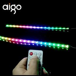 tira de iluminación de la caja de led Rebajas DR12 Case Light Stripes Barras de luz RGB sincronización sincronizada de colores con placa base y ventiladores LED Chassis stripes