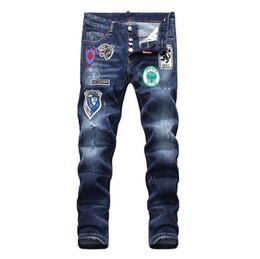 2019 bandera americana hombres capris Nuevos 2019 Jeans para hombres Moda Casual Europeo y Americano Pantalones largos para hombres de primavera y otoño D1858 Off White Balmain PHILIPP PLEIN DSQUARED2 DSQ2 D2 GUCCI