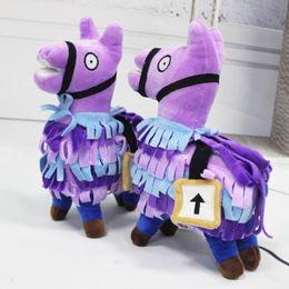 tv natal Desconto Fortaleza Noite Troll Stash Lhama Brinquedos Macios Boneca De Pelúcia Quinzena Alpaca Recheado Brinquedos para Crianças Presente de Aniversário de Natal