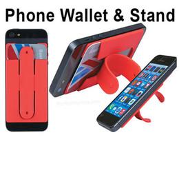 2019 shell-smartphone Silikon-Stick Kreditkartenhalter Halter Cradle Slot Ständer Shell Kopfhörer Kabel Sammlung Für Universal Smart Mobile Handy Smartphon rabatt shell-smartphone