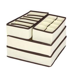 Bettwäsche-sets boxen online-Satz von 4 faltbaren Schubladenteilern Aufbewahrungsboxen Schrank-Organisatoren Unter-Bett-Organisator Unterwäsche Trennwand Schubladenschrank